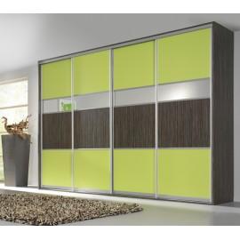 Шкаф купе с цветным стеклом