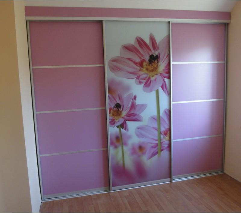 Шкафы купе с фотопечатью цветов