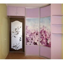Радиусная распашная дверь