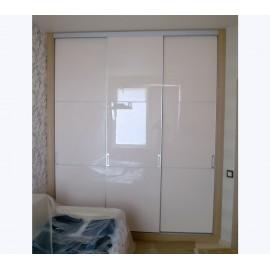 Двери шкафа купе белый глянец
