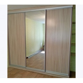 Двери купе дуб сонома с зеркалом