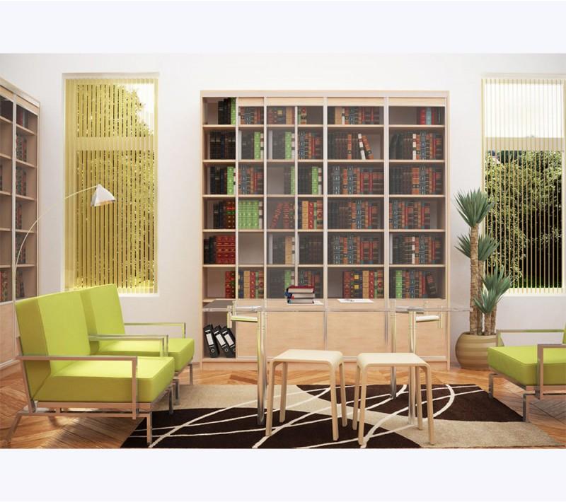 Двери для книжного шкафа со стеклом