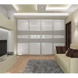 Белые шкафы купе в гостиную
