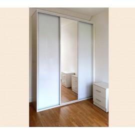 Шкаф купе зеркало белое стекло