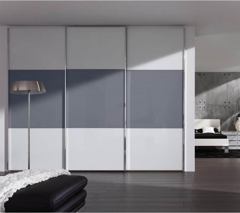 Шкаф купе серый с белым