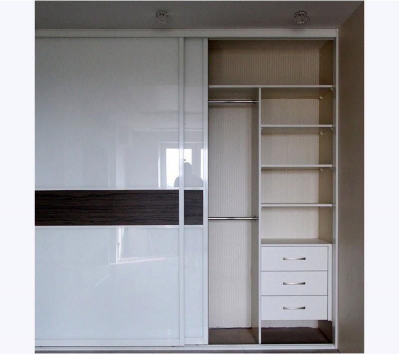 Современные шкафы купе в спальню белые