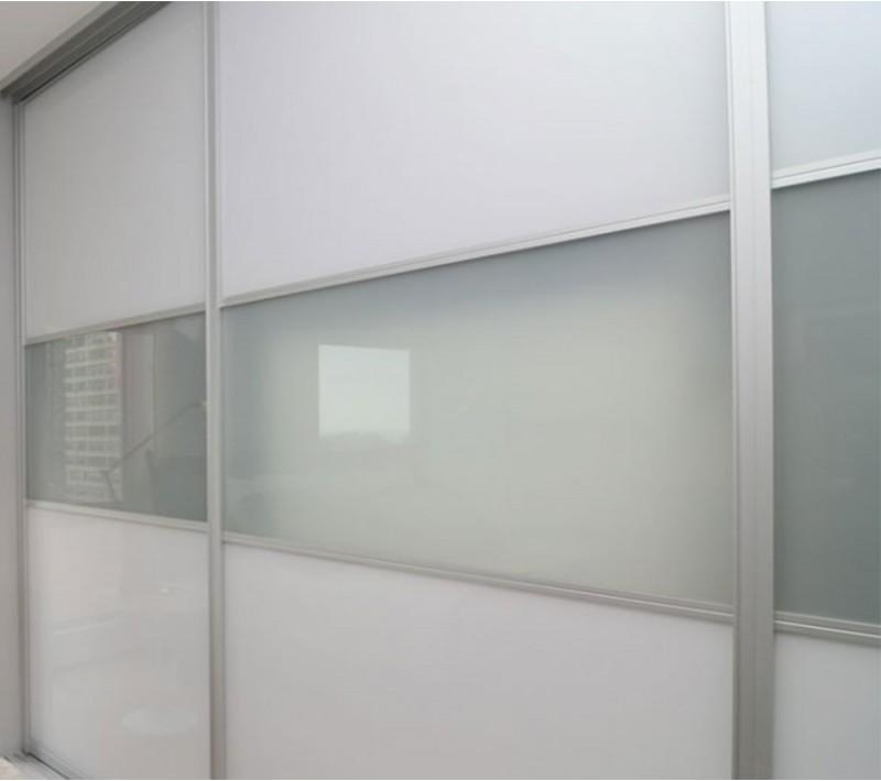 Шкаф купе белое стекло