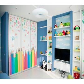 Встроенный шкаф купе в детскую комнату