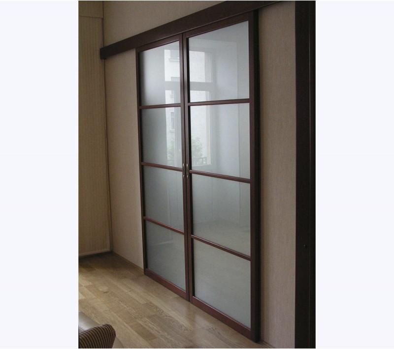 Раздвижные двухстворчатые двери межкомнатные