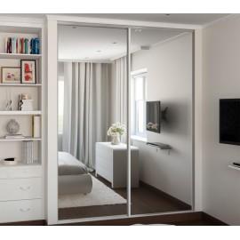 Встроенный шкаф купе в маленькой спальне