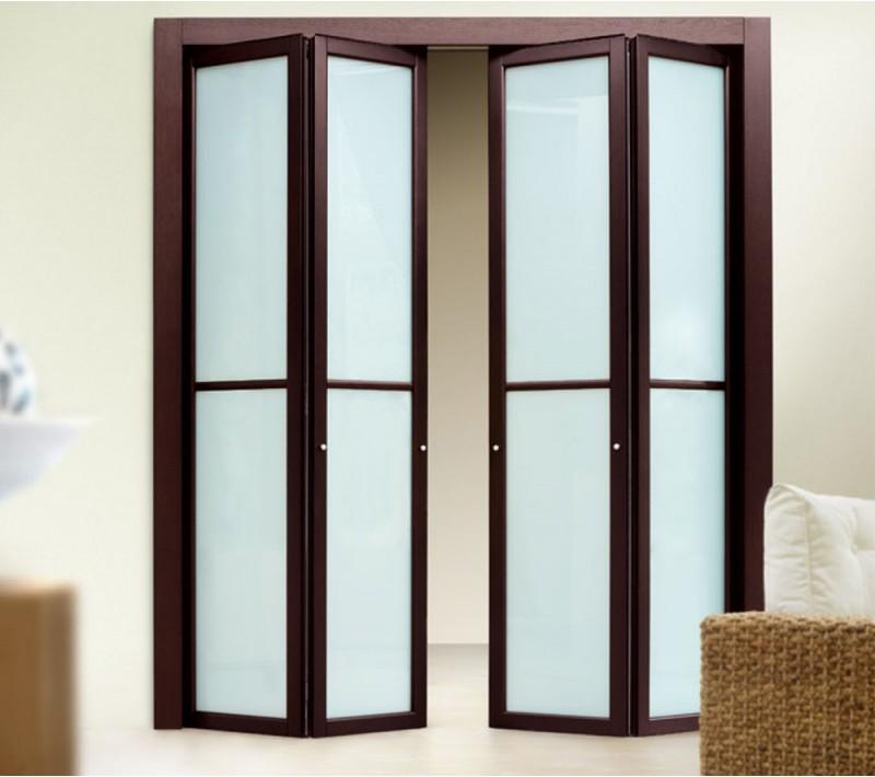 Двери на кухню раздвижные гармошка
