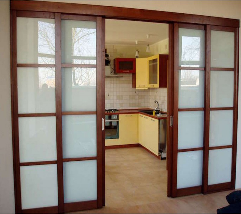 Деревянные перегородки со стеклом