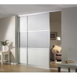 Раздвижные двери (белые со стеклом) - купить в Москве по низкой цене