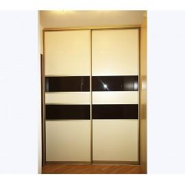Шкафы купе двухдверные стекло