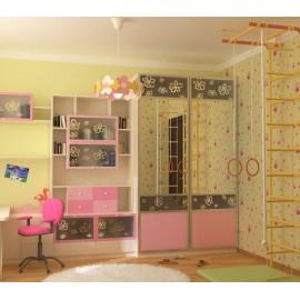 Шкаф купе в комнату подростка девочки