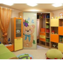 Угловой шкаф купе в детскую