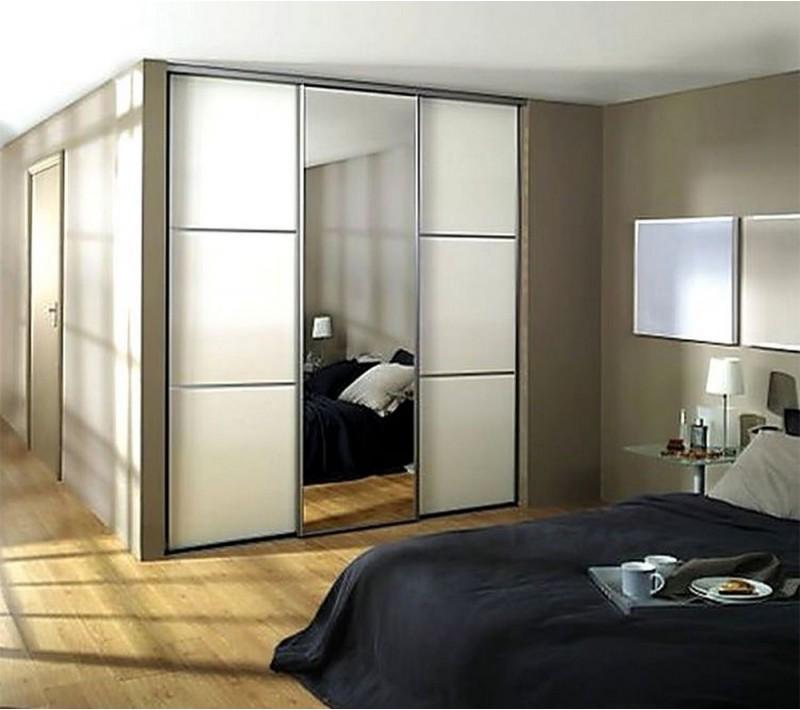 Двери купе матовое стекло и зеркало
