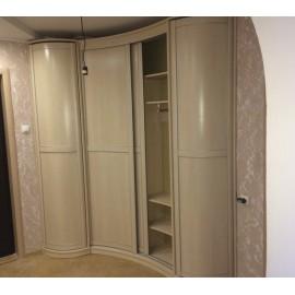 Радиусный шкаф купе угловой с зеркалом купить
