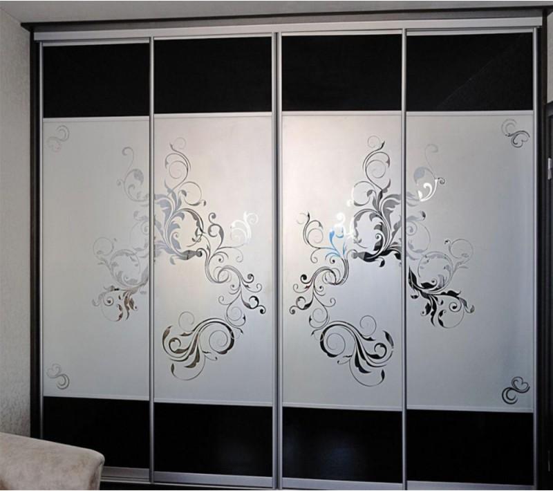 Пескоструйный рисунок для шкафа купе 2 двери