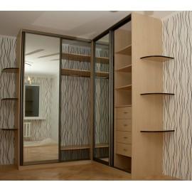 Угловые шкафы купе в спальню каталог