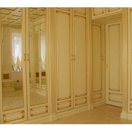 Двери с зеркалом для шкафа распашные