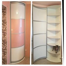 Шкафы купе с радиусными элементами